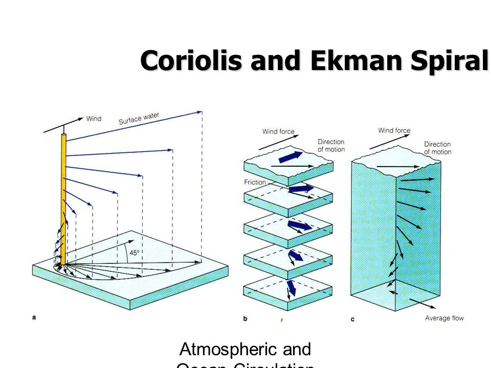 Atmospheric and Ocean Circulation Coriolis and Ekman Spiral