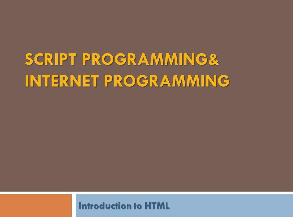 ทำความเข้าใจ HTML &Internet  HTML (Hypertext Markup Language) เป็น Script ที่ใช้สร้าง Home Page บน Web เป็น Script ที่มีความสามารถใน การเชื่อมโยงข้อมูลใน Computer ระหว่าง Computer ในเครือข่าย และ ระหว่างเครือข่ายใน Internet โดยอ้างอิง จาก URL (Uniform Resource Locators) ด้วย โปรโตคอล HTTP ซึ่งเป็นโปรโตคอลของ WWW  HTTP(Hyper Text Transfer Protocol ) : เป็นโปรโตคอลสื่อสารที่ทำงานอยู่บนระบบ โปรโตคอล TCP HTTP ใช้ในระบบเครือข่ายใยแมง มุม (World Wide Web) ทำหน้าที่ในการจำหน่าย, แจกจ่าย รวมไปถึงการรับข้อมูล จากระบบสื่อกลาง ชั้นสูง (Hypermedia System) ที่ประกอบด้วยเครื่อง ให้บริการ (Server) ที่มีอยู่มากมายทั่วโลก เวลาเรา เข้าเว็บ ด้วย Browser เช่น IE (Internet Explorer), FF(FireFox) หรือ Google Chrome หรือ Browser ตัวอื่นๆ เวลาเราเรียกดูเว็บ