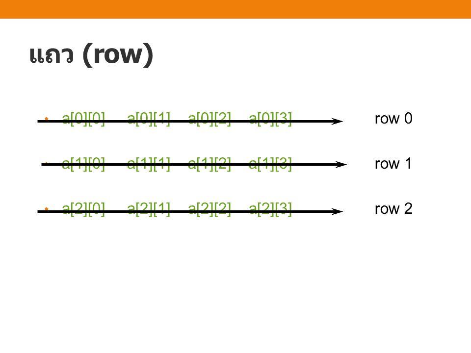 แบบฝึกหัด จงเขียนโปรแกรมสำหรับรับข้อมูลรูปภาพซึ่งประกอบด้วย สัญลักษณ์ o และ x ขนาด m แถว n คอลัมน์ แล้วให้สร้าง array อีกอันหนึ่งเพื่อเก็บผลลัพธ์ที่เป็นการกลับภาพนั้น โดย ตำแหน่งใดที่เป็น o ให้เปลี่ยนเป็น x และตำแหน่งที่เป็น x ให้ เปลี่ยนเป็น o แล้วแสดงผลลัพธ์ออกทางหน้าจอ ตัวอย่างข้อมูล เข้า 5 4 xoox oxxo xxxx oxxo xoox ตัวอย่างข้อมูล ออก oxxo xoox oooo xoox oxxo