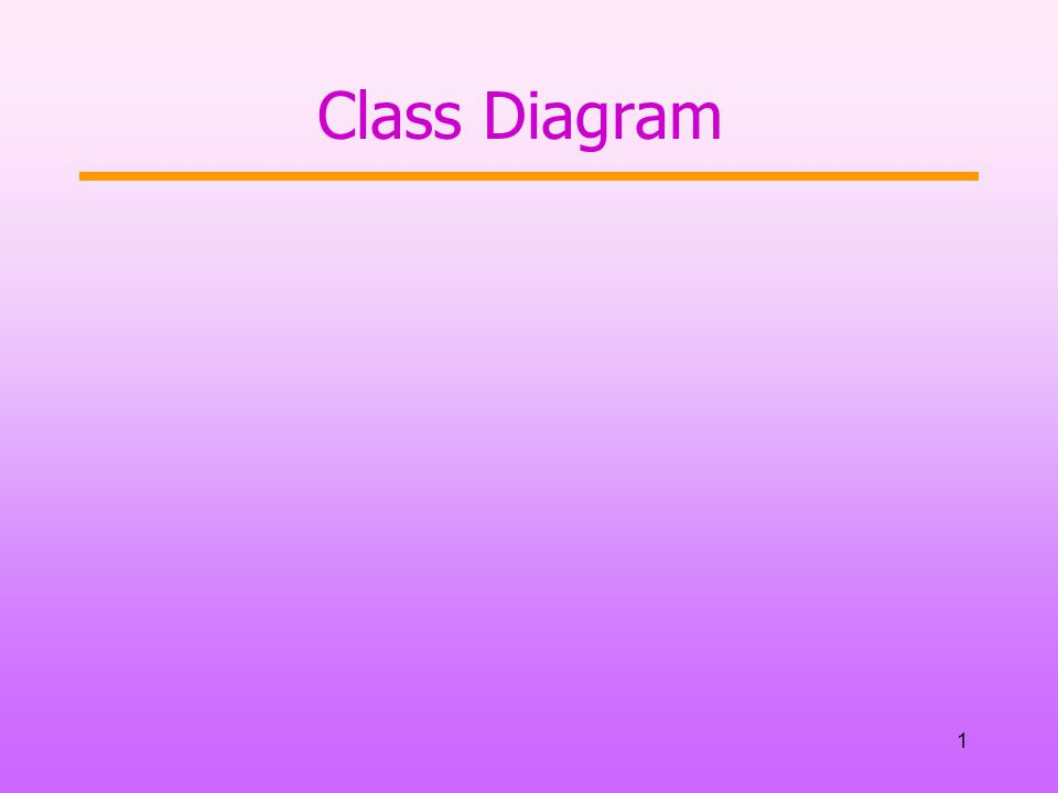 1 Class Diagram