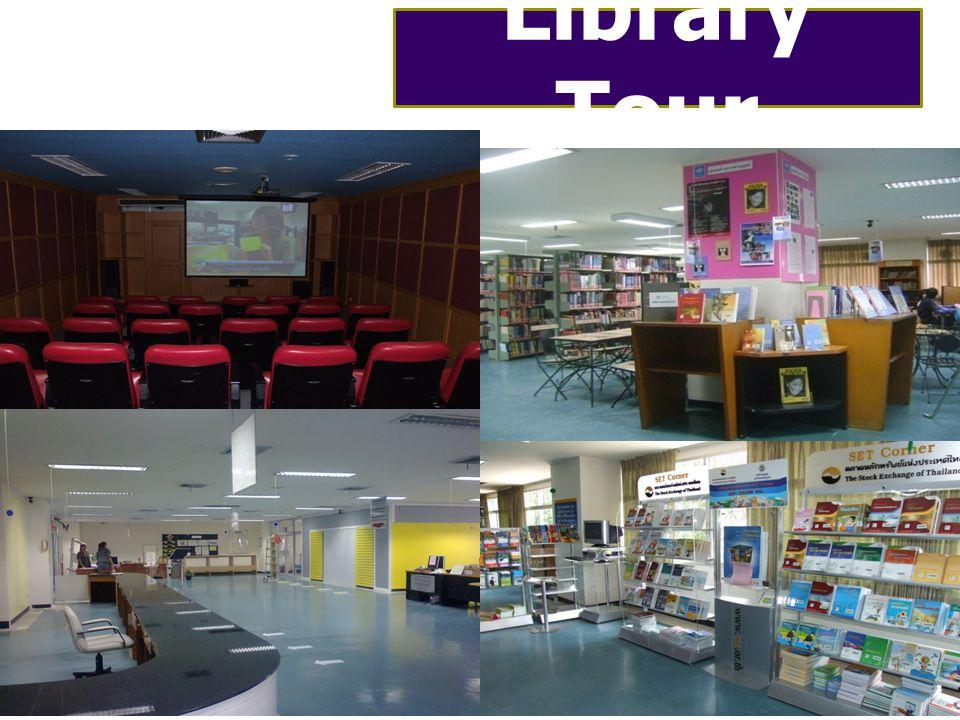 ตารางการ อบรม หลักสูตร เวลา ฝึกอบร ม วัน 1. Library Tour1 ชม. จันทร์ - ศุกร์ 2. Information on WEB OPAC 30 นาที จันทร์ - ศุกร์ 3. Information in Healt