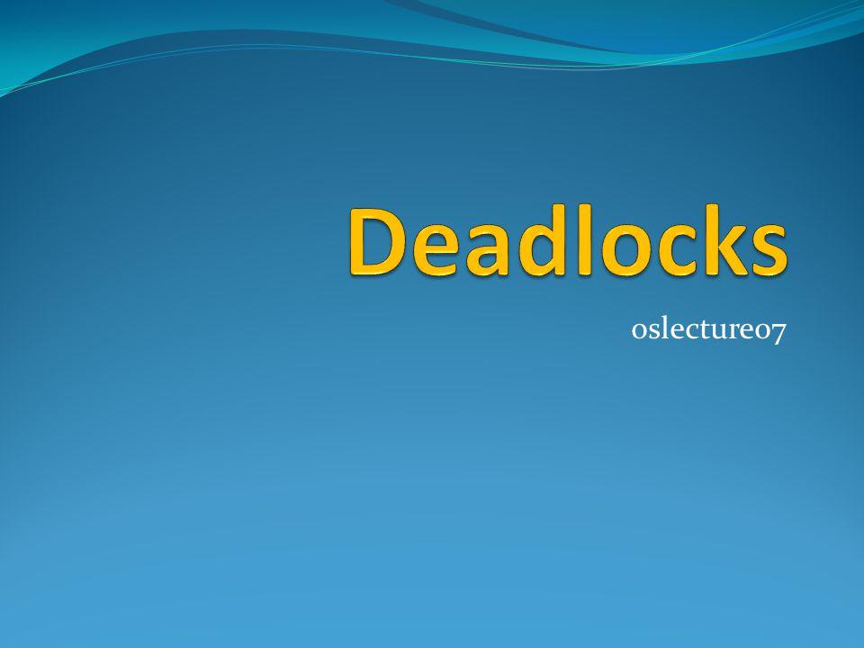 Deadlocks คืออะไร .