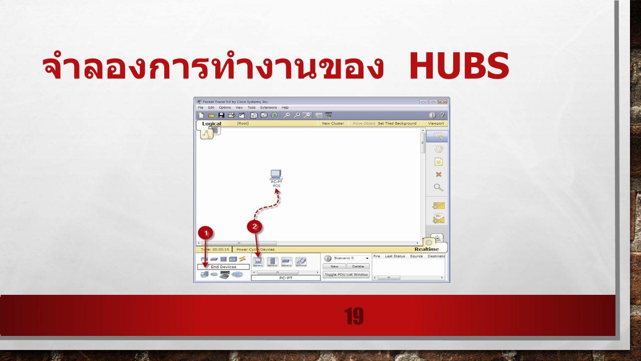 จำลองการทำงานของ HUBS 19