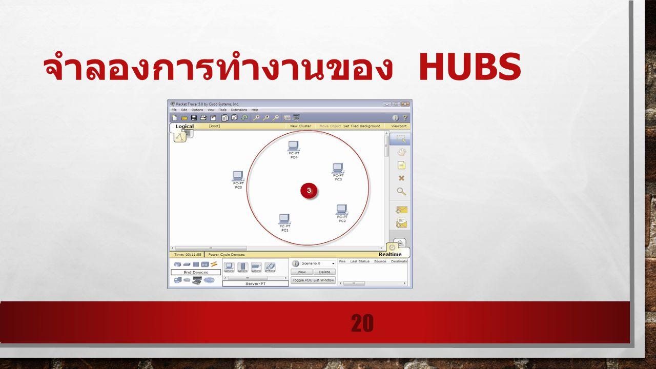 จำลองการทำงานของ HUBS 20