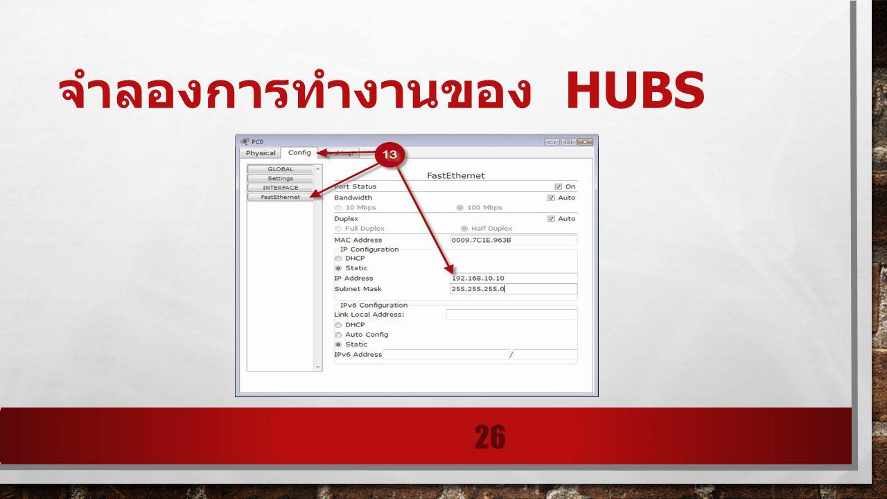 จำลองการทำงานของ HUBS 26