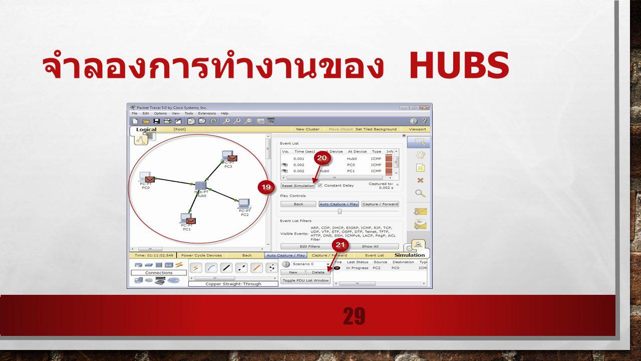 จำลองการทำงานของ HUBS 29