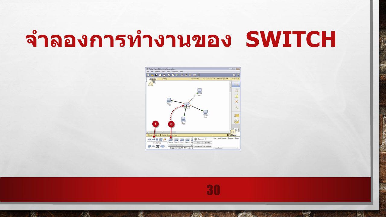 จำลองการทำงานของ SWITCH 30
