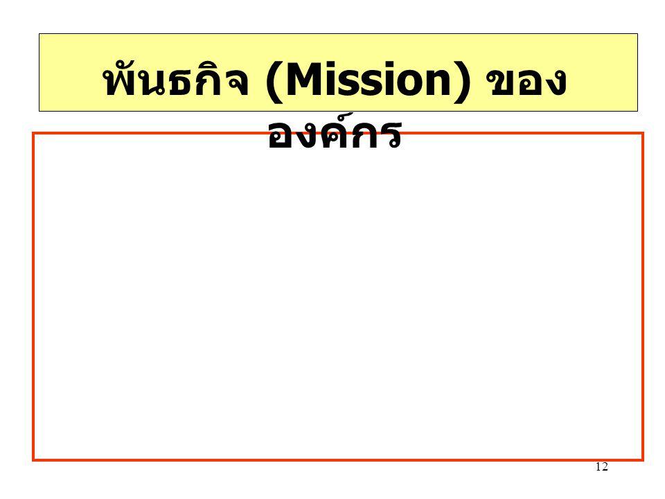 12 พันธกิจ (Mission) ของ องค์กร