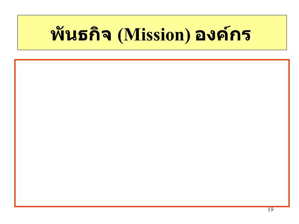 19 พันธกิจ (Mission) องค์กร