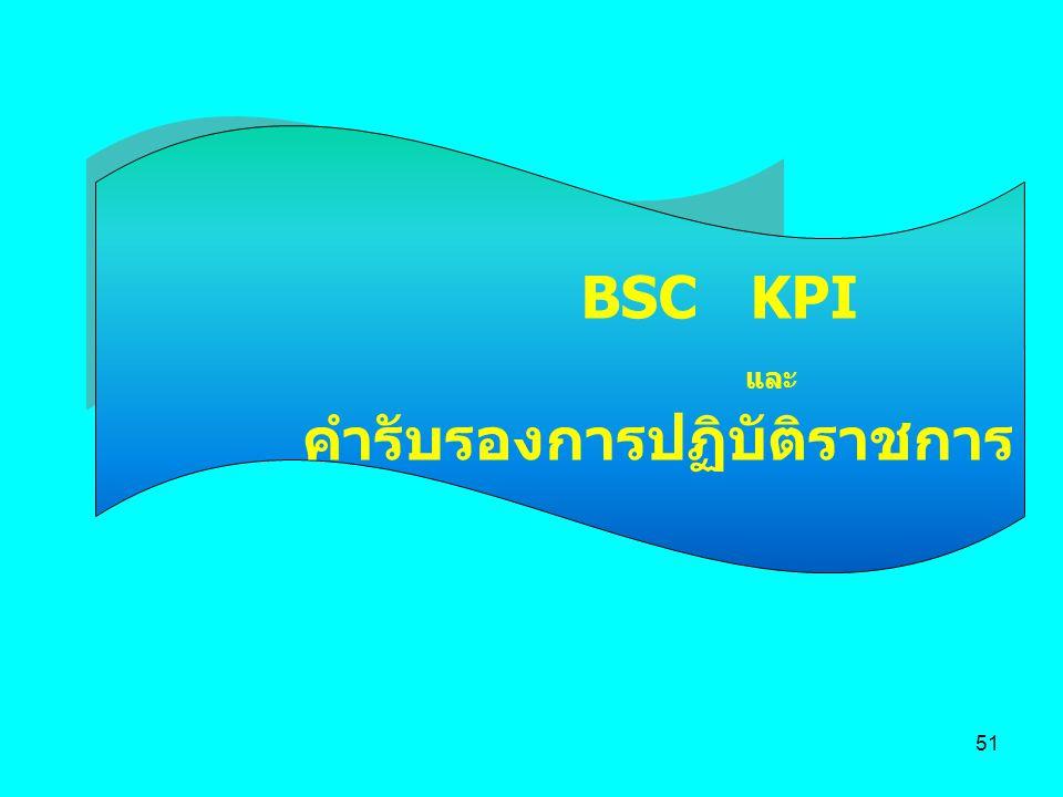 51 BSC KPI และ คำรับรองการปฏิบัติราชการ