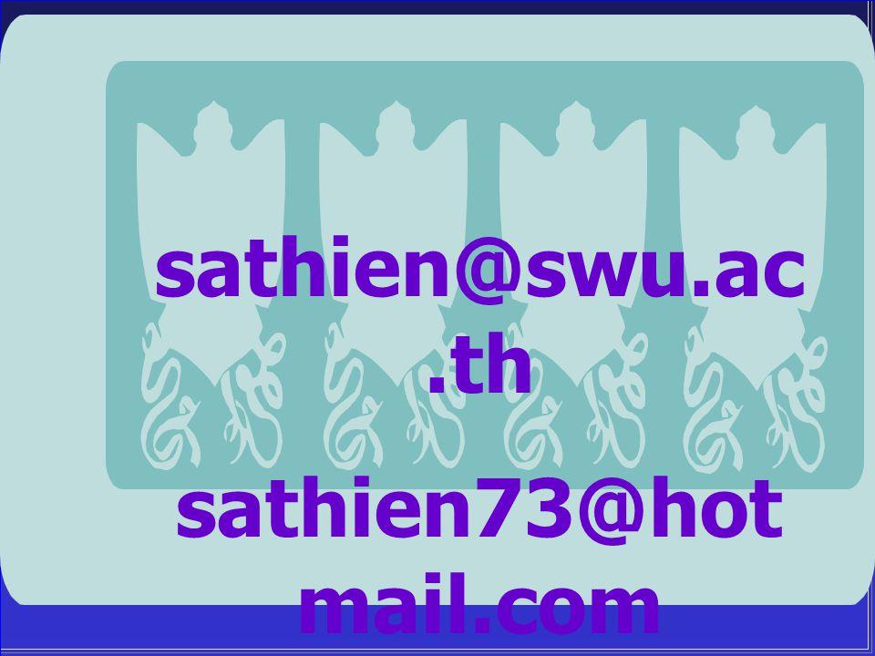 sathien@swu.ac.th sathien73@hot mail.com