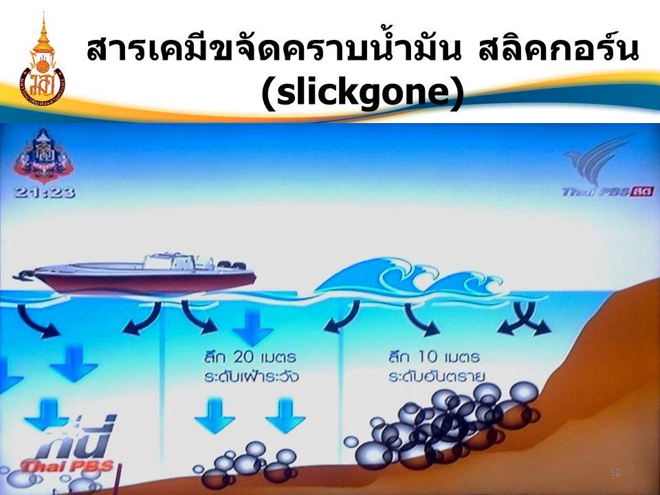 12 สารเคมีขจัดคราบน้ำมัน สลิคกอร์น (slickgone)
