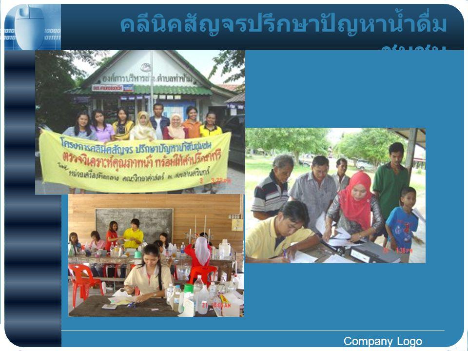 Company Logo คลีนิคสัญจรปรึกษาปัญหาน้ำดื่ม ชุมชน