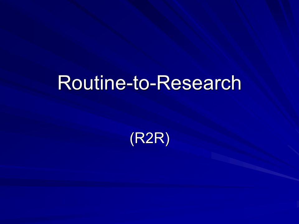 ผลลัพธ์ของขั้นตอนนี้ ได้งานวิจัยเชิงการทดลอง 1 เรื่อง ที่ทำแล้วแก้ปัญหาให้กับผู้ป่วยได้ โดยตรง และนำสู่การเปลี่ยนแปลงการ ปฏิบัติได้ทันที เหมือนงาน พัฒนาคุณภาพการพยาบาล (QI)