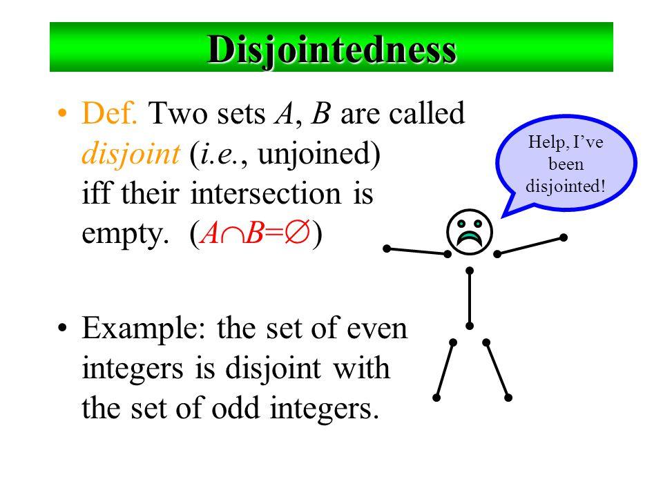 ตัวอย่างของผลตัด 1.{a,b,c}  {2,3} = ___ 2.{2,4,6}  {3,4,5} = ______  {4}