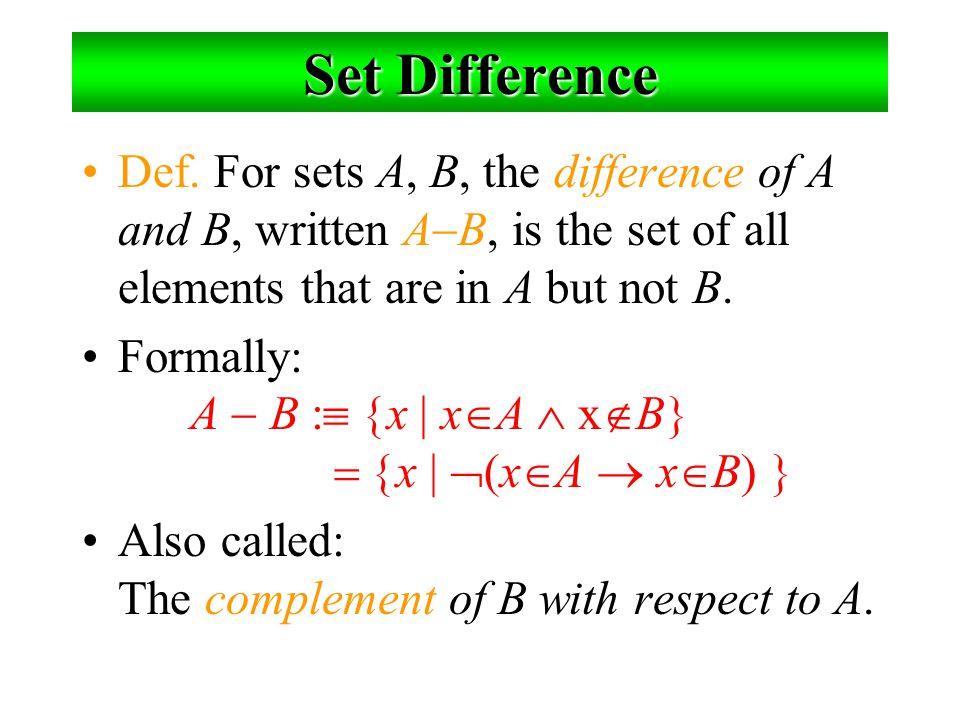 Inclusion-Exclusion Principle มีจำนวนสมาชิกเท่าไรที่อยู่ใน A  B? |A  B| = |A|  |B|  |A  B| ตัวอย่าง : มีนักศึกษากี่คนในห้องนี้ ? พิจารณาเซต E  I