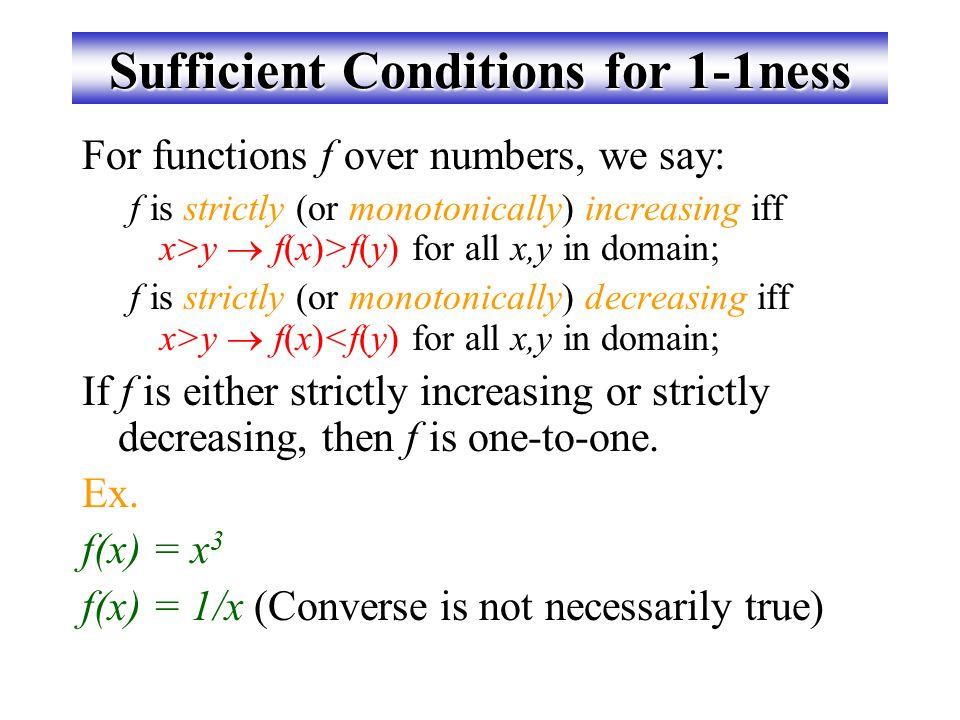 การทดค่าแบบ one-to-one Bipartite (2-part) graph representations of functions that are (or not) one-to-one: d c b a 3 4 2 1 5 One-to-one Not one-to-one