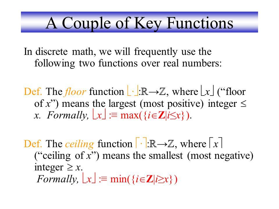 กราฟของฟังก์ชัน We can represent a function f:A  B as a set of ordered pairs {(a,f(a)) | a  A}. Note that  a, there is only 1 pair (a,b). Later top