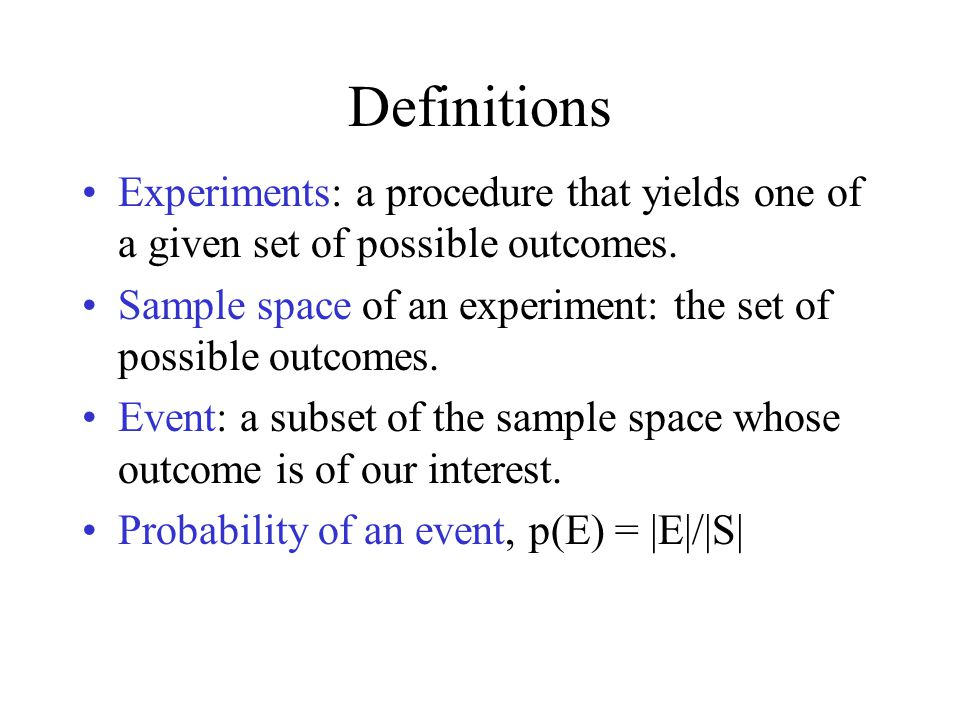 Conditional Probability Let E, F be events such that p(F)>0.