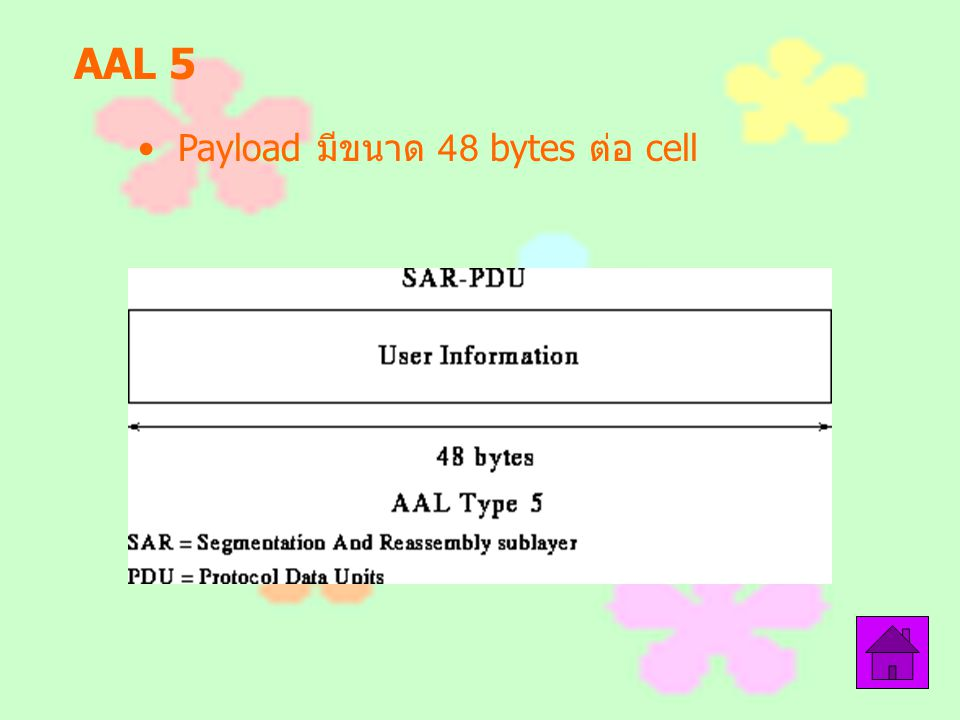 AAL 5 Payload มีขนาด 48 bytes ต่อ cell