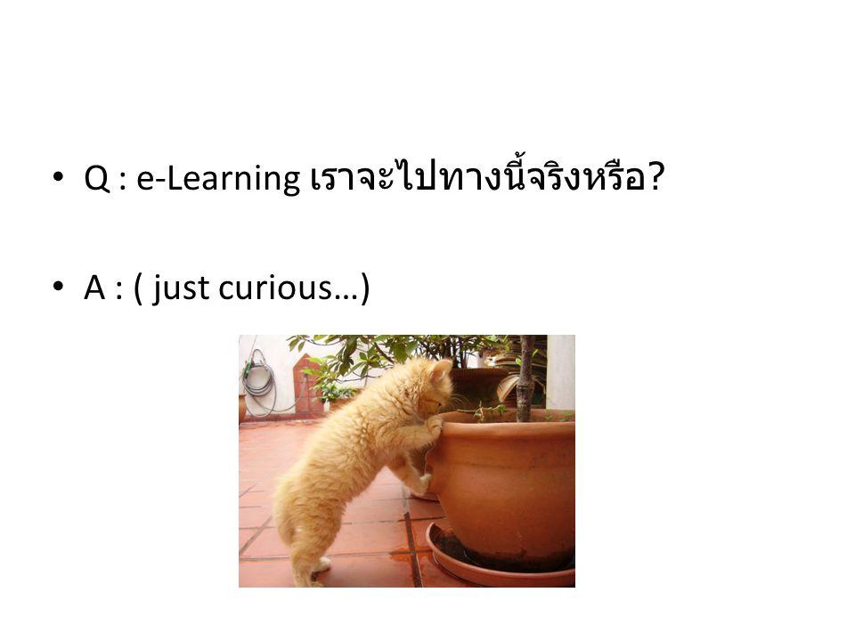 Q : e-Learning เราจะไปทางนี้จริงหรือ ? A : ( just curious…)