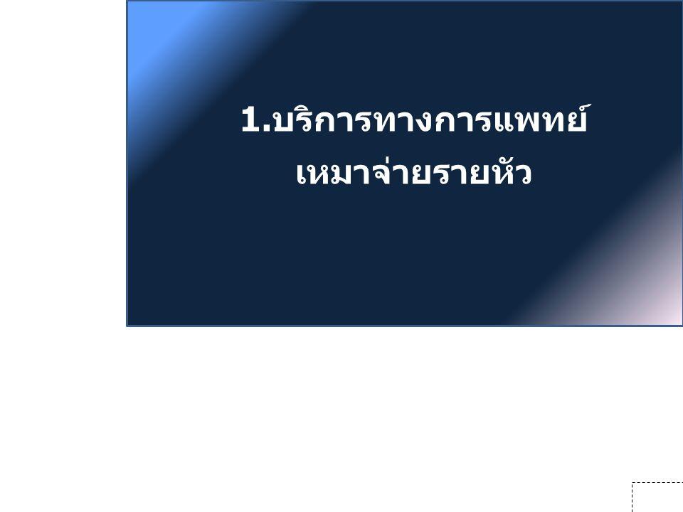 1.บริการทางการแพทย์ เหมาจ่ายรายหัว 19