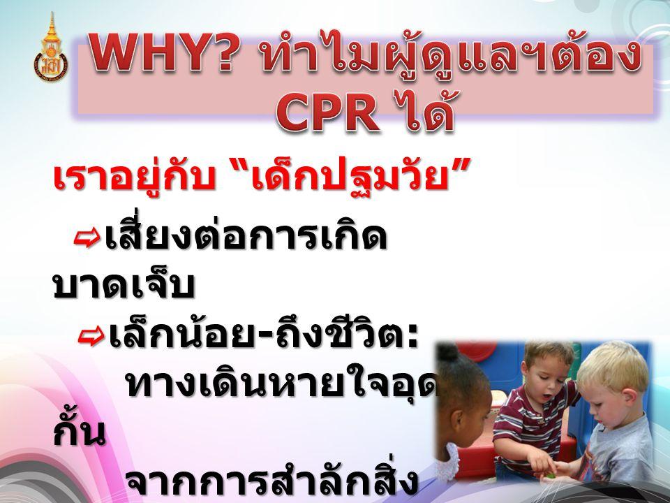2. กรณีที่เด็กหมดสติ  จับเด็กนอน หงายบนพื้น  จับเด็กนอน หงายบนพื้น