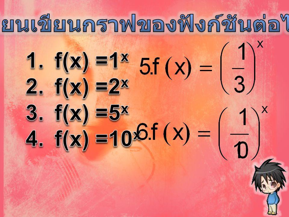 f(x) =1 x