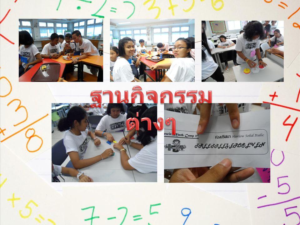 11.00 – 12.00 เรียนรู้คณิตศาสตร์ผ่าน ประสบการณ์จากรุ่นพี่สู่รุ่นน้อง 12.00 – 13.00 รับประทานอาหารเที่ยง