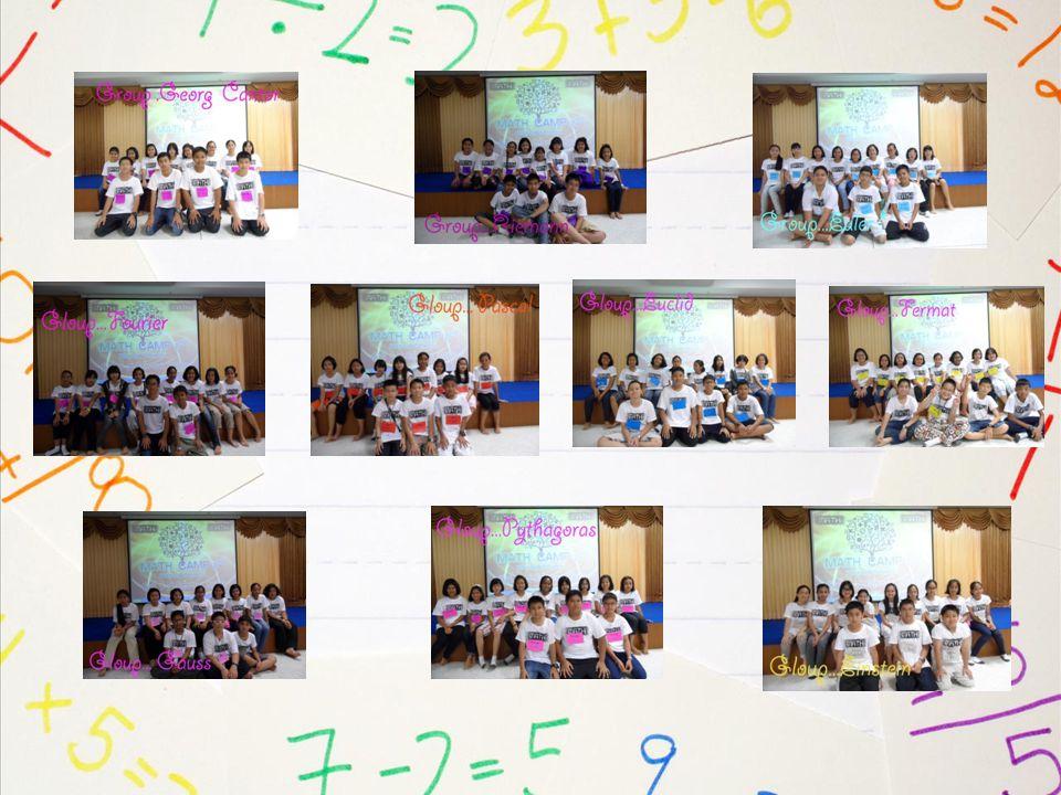 กำหนดโครงการ PSU.WIT Math Camp 2 วันศุกร์ ที่ 1 มิถุนายน 2555 17.00 - 17.30 ลงทะเบียนหน้าห้องราชพฤกษ์ ( ตามกลุ่มที่กำหนดให้ ) 17.30 – 18.00 พิธีเปิด โดย ผู้อำนวยการ โรงเรียน