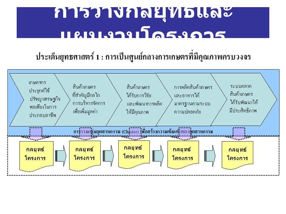การวางกลยุทธ์และ แผนงานโครงการ