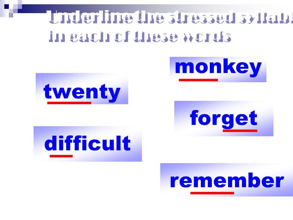 Noun/Adverb 2 พยางค์ เน้นพยางค์ แรก SISter LOVEly Prefix/Suffix ไม่เน้นเสียง imPORTsible deFECtive Compound word เน้นพยางค์ แรก POSTman NEWSpaper คำที่มี 2 หน้าที่ นาม ( แรก ) กริยา ( ท้าย ) IMport imPORT Rules of word stress