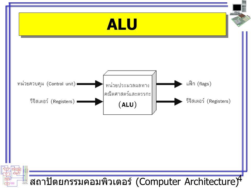 สถาปัตยกรรมคอมพิวเตอร์ (Computer Architecture) 4 ALU