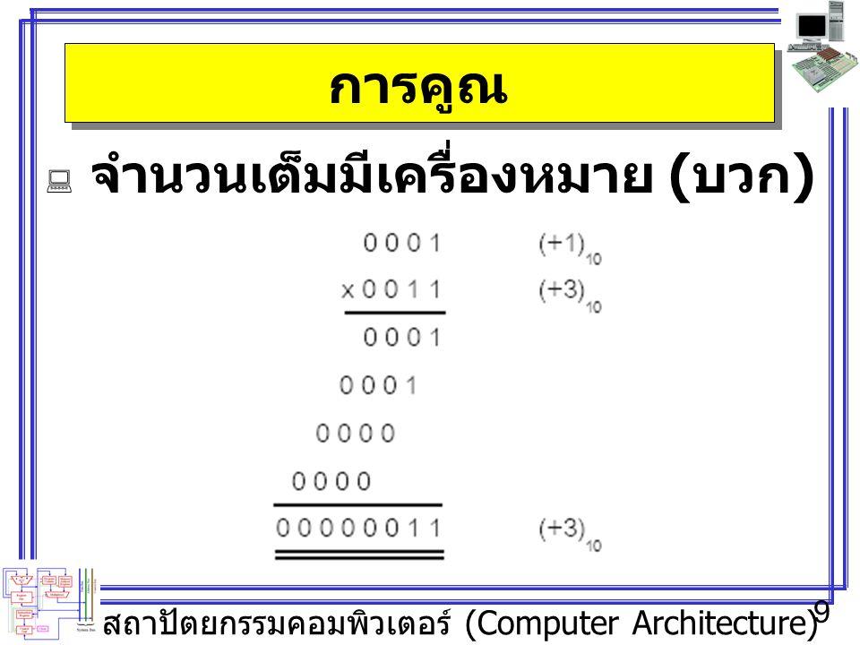สถาปัตยกรรมคอมพิวเตอร์ (Computer Architecture) 9 การคูณ  จำนวนเต็มมีเครื่องหมาย ( บวก )