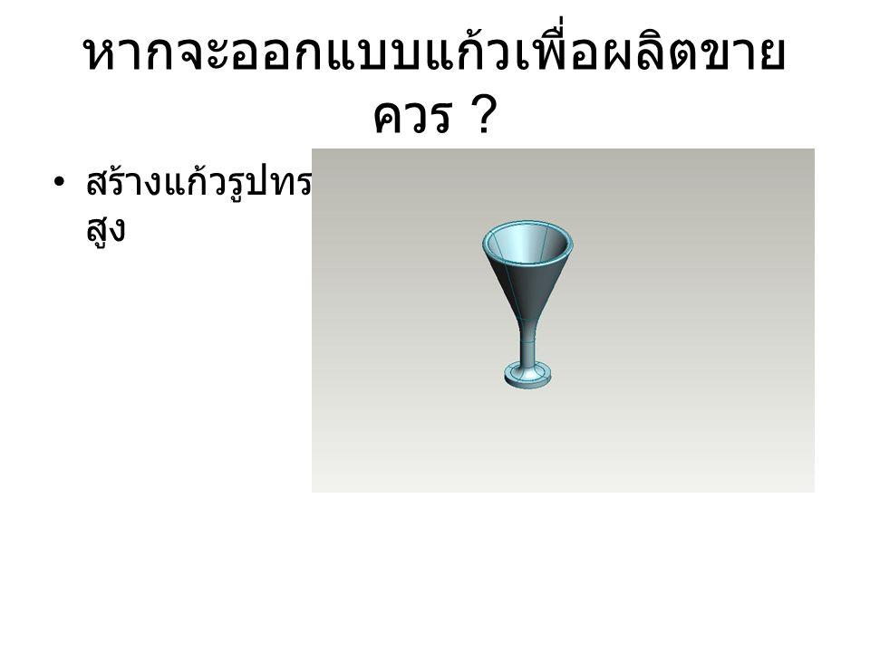 หากจะออกแบบแก้วเพื่อผลิตขาย ควร ? สร้างแก้วรูปทรง สูง