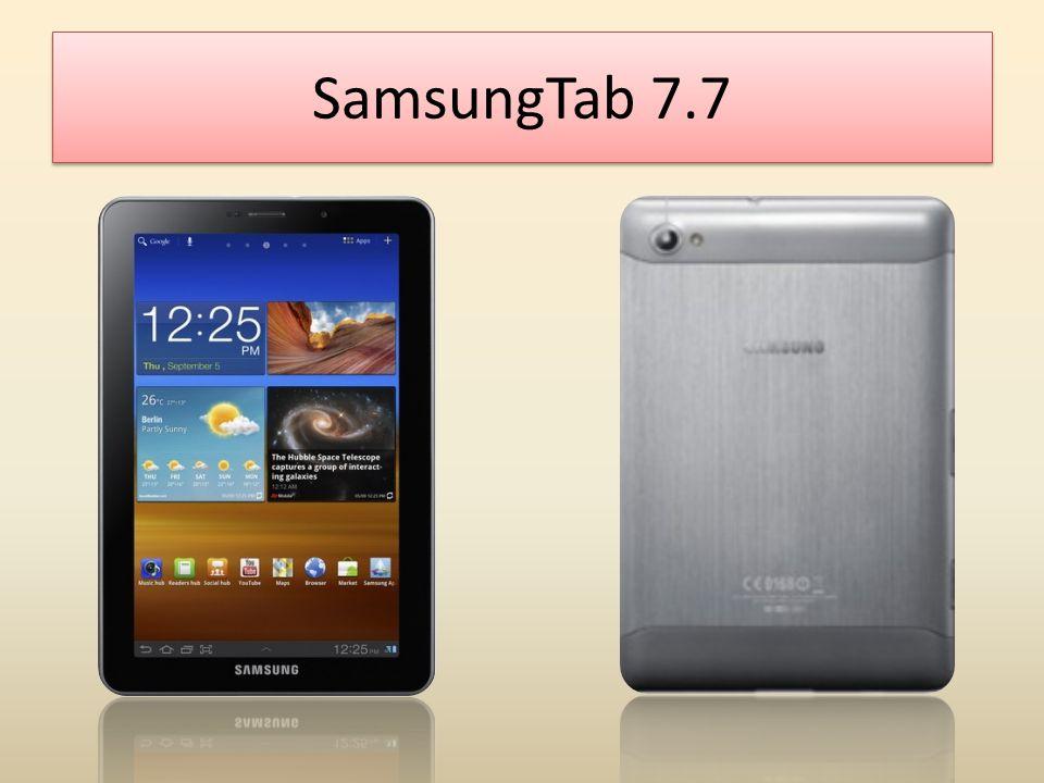 สเปค Samsung Tap7.7 ขนาดน้ำหนักสูง x กว้าง x หนา 196.7 มม.