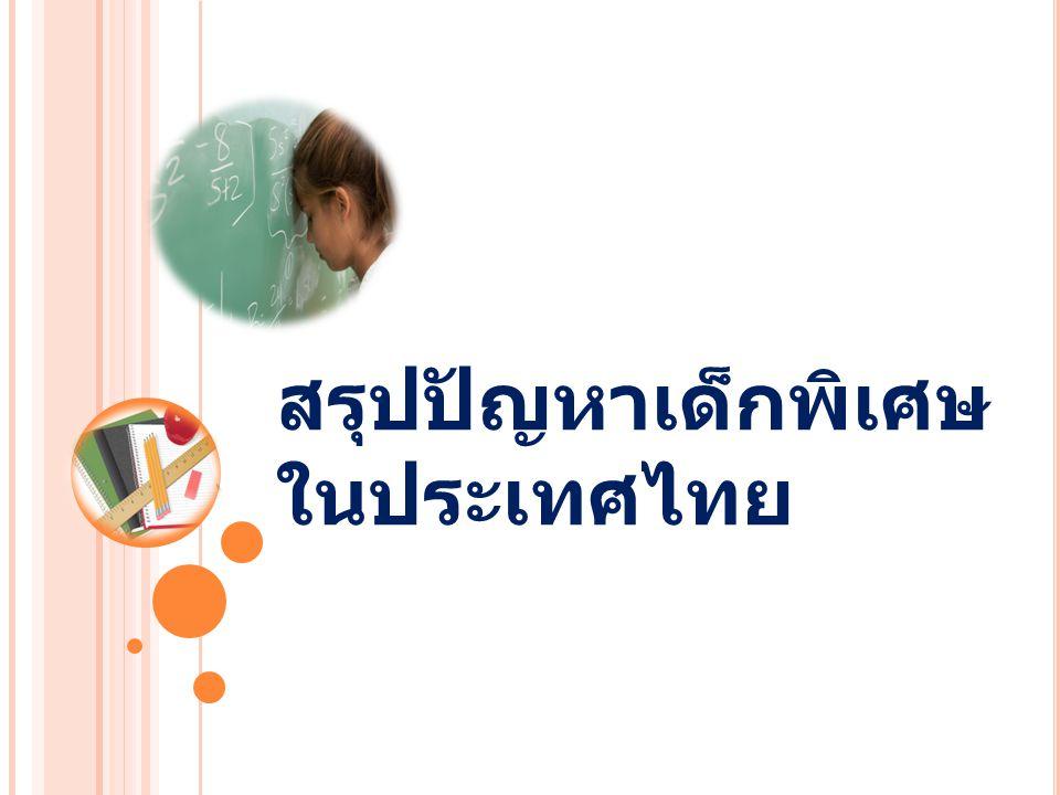 สรุปปัญหาเด็กพิเศษ ในประเทศไทย
