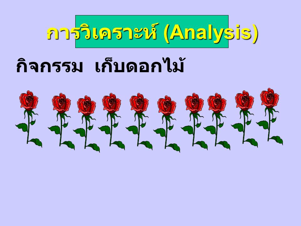 การวิเคราะห์ (Analysis) กิจกรรม เก็บดอกไม้