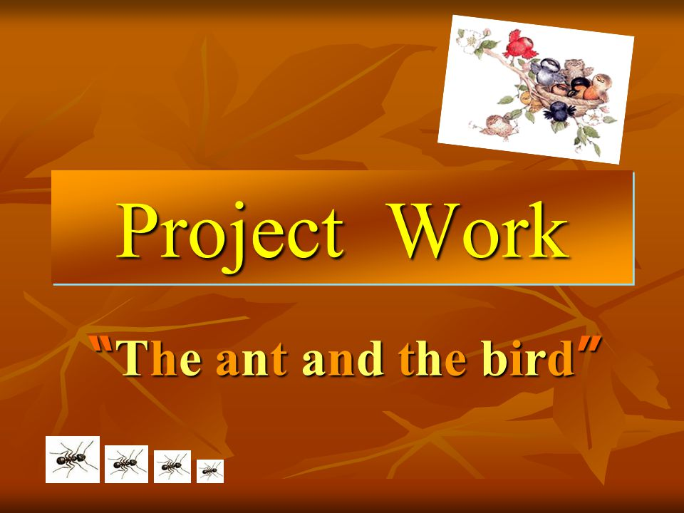"Project Work ""The ant and the bird""""The ant and the bird""""The ant and the bird""""The ant and the bird"""