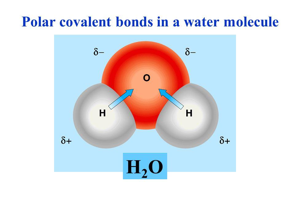 Ionic bond Ionic bond แรงยึดเหนี่ยวระหว่าง อะตอมเป็นผลมาจากแรงดึงดูดของ ประจุ ดังนั้นพันธะชนิดนี้มีความ แข็งแรงมาก / น้อยขึ้นอยู่กับ สภาพแวดล้อมของโมเลกุล ตัวอย่างเช่น โมเลกุลของ NaCl ในตัวกลางที่เป็นน้ำ ionic bond ถูก ทำลายได้ง่าย เนื่องจากขั้วของ โมเลกุลของน้ำไปรบกวนแรงดึงดูด ของประจุ