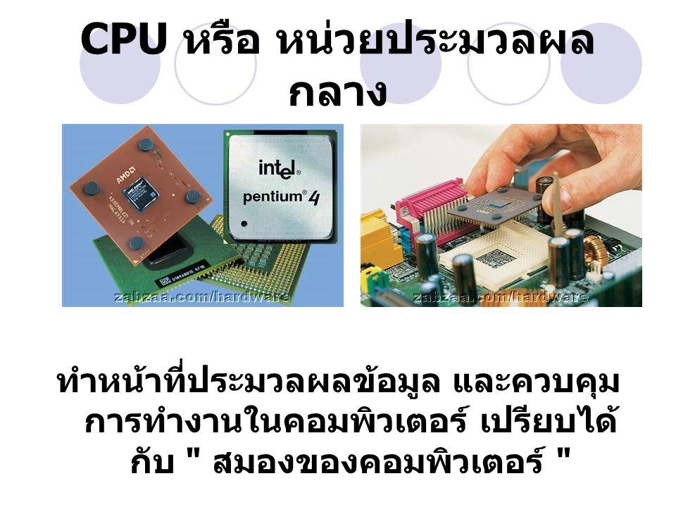 อุปกรณ์ภายใน LAN Card CPU Mainboard RAM Harddisk VGA Card Sound Card