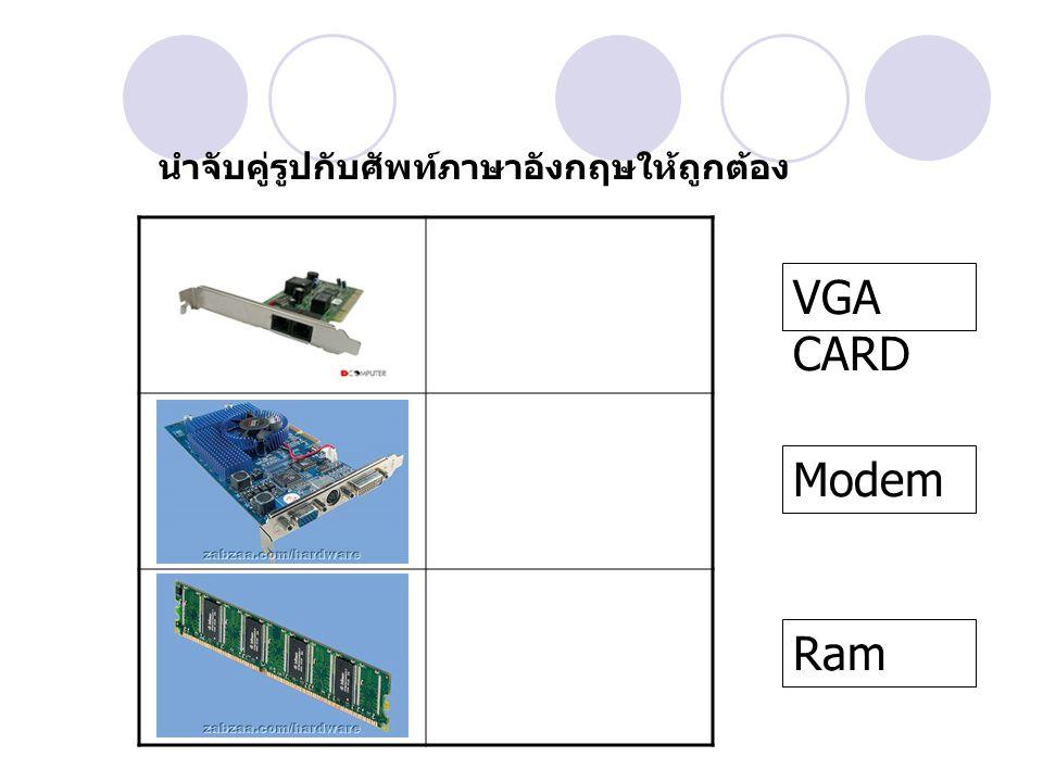 RAM จัดเป็นอุปกรณ์ ภายนอกใช่หรือไม่ ใช่ไม่ใช่