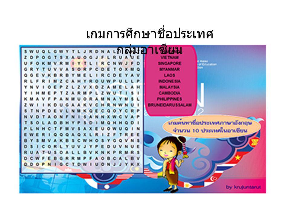 เกมการศึกษาชื่อประเทศ กลุ่มอาเซียน