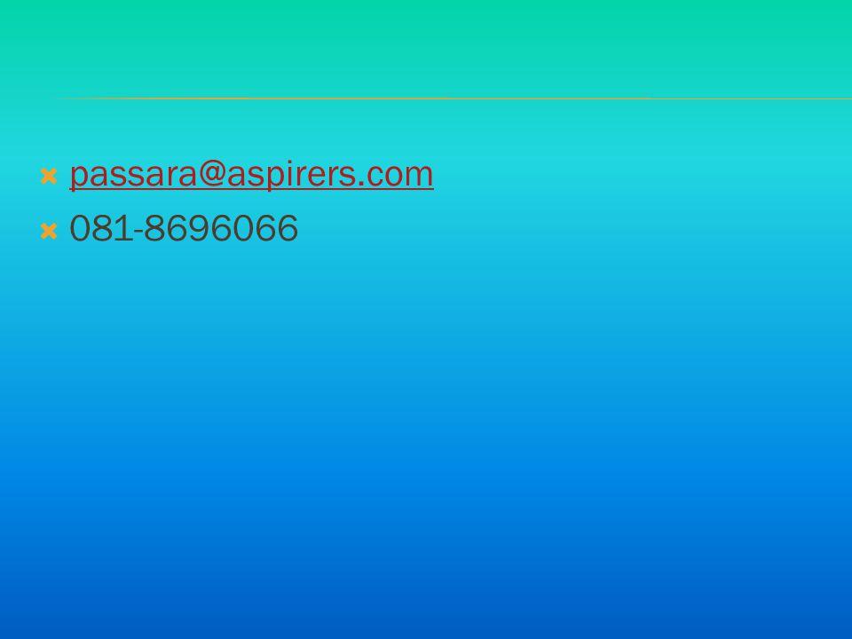  passara@aspirers.com passara@aspirers.com  081-8696066