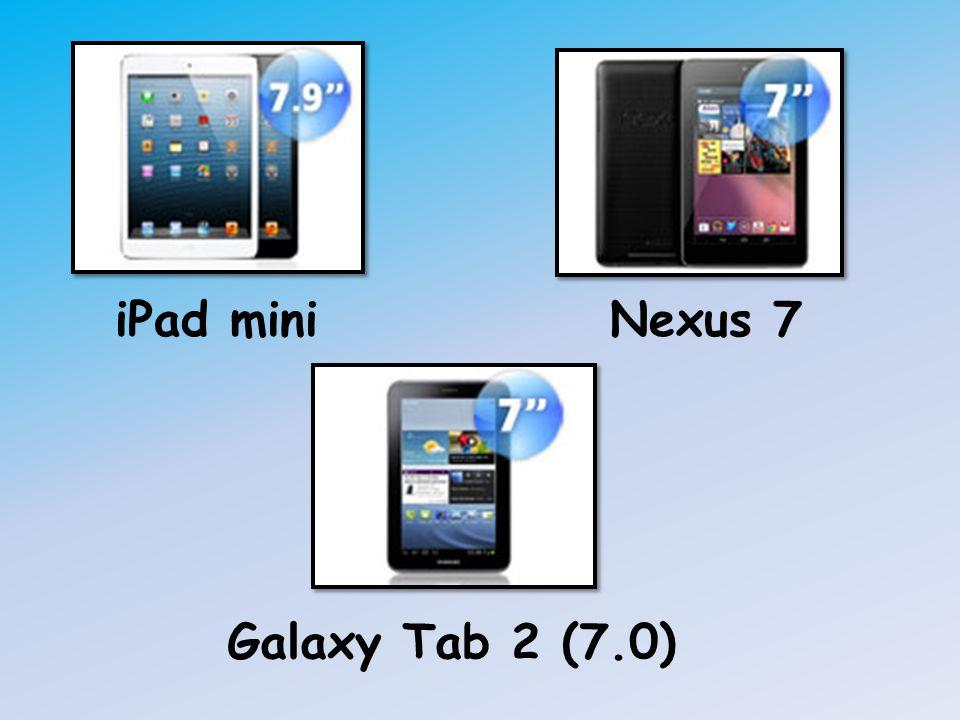 iPad miniNexus 7 Galaxy Tab 2 (7.0)