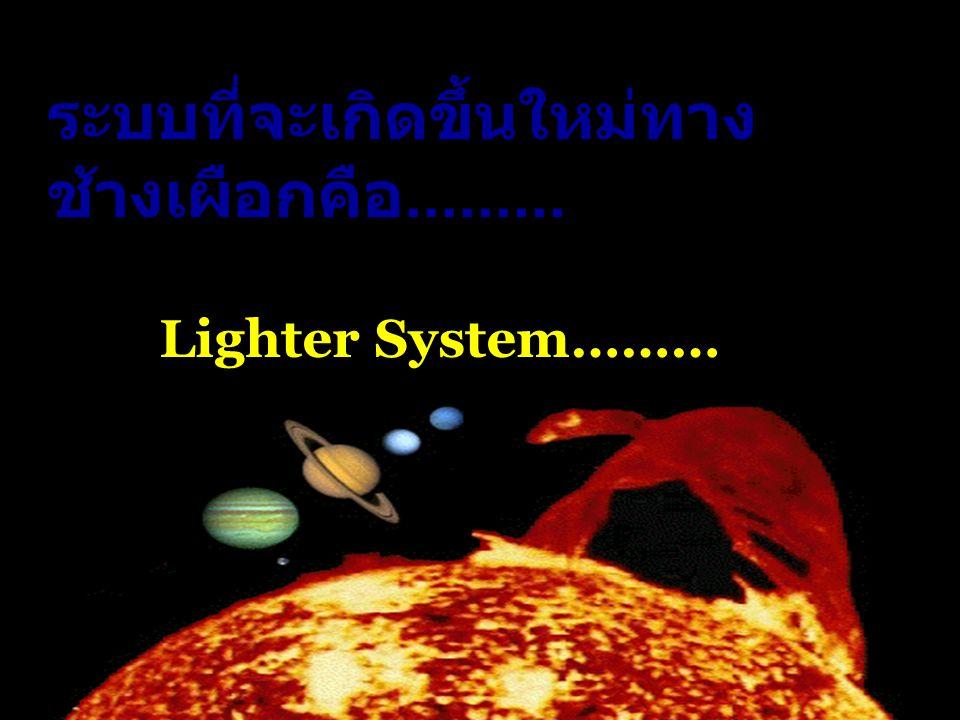ระบบที่จะเกิดขึ้นใหม่ทาง ช้างเผือกคือ......... Lighter System………