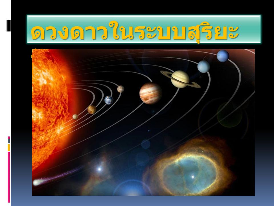 ดวงดาวในระบบสุริยะ จักรวาล