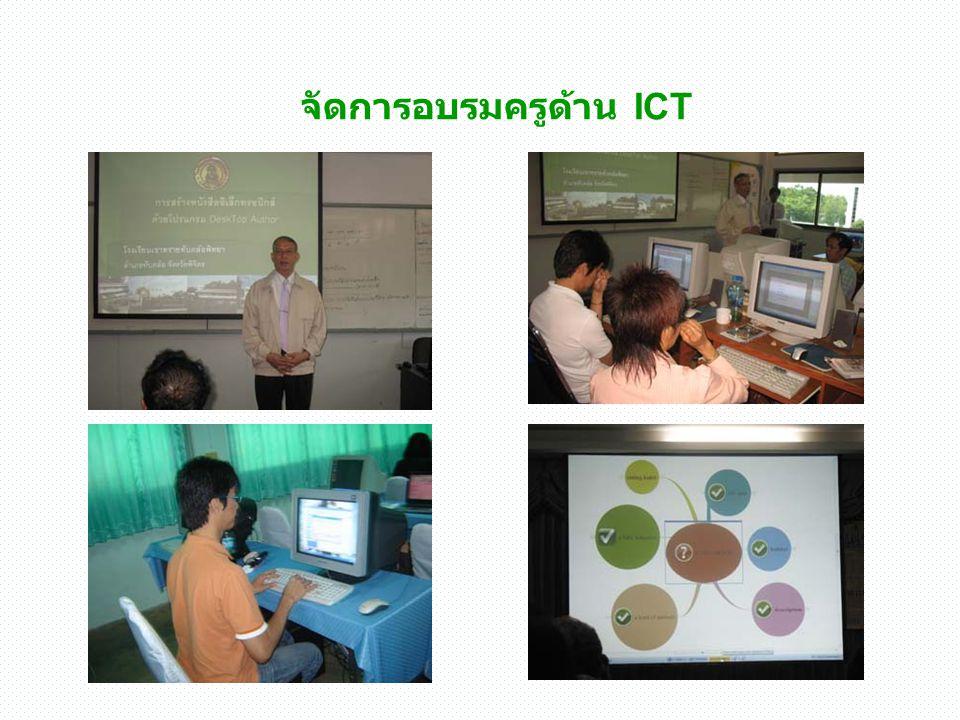 ระดมทรัพยากร เพื่อจัดหา คอมพิวเตอร์ให้เพียงพอ คณะกรรมการ สถานศึกษา และเครือข่าย ผู้ปกครอง ร่วมพิธีเปิด ห้อง E- learning 2 ห้อง คอมพิวเตอร์ เพื่อการ สืบค้น ที่ได้ จากการระดม ทรัพยากร จาก ผู้ปกครอง