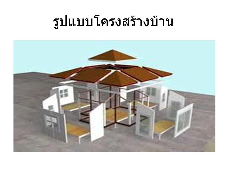 รูปแบบโครงสร้างบ้าน