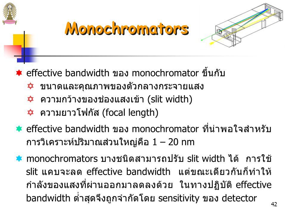 41 รูปที่ 11 (b) Bunsen prism monochromator.
